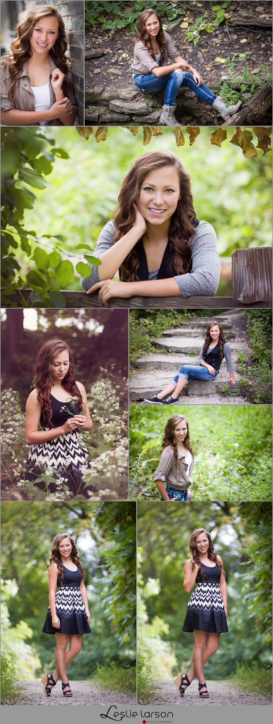 Alysha senior photos leslie larson photograhy stone arch bridge