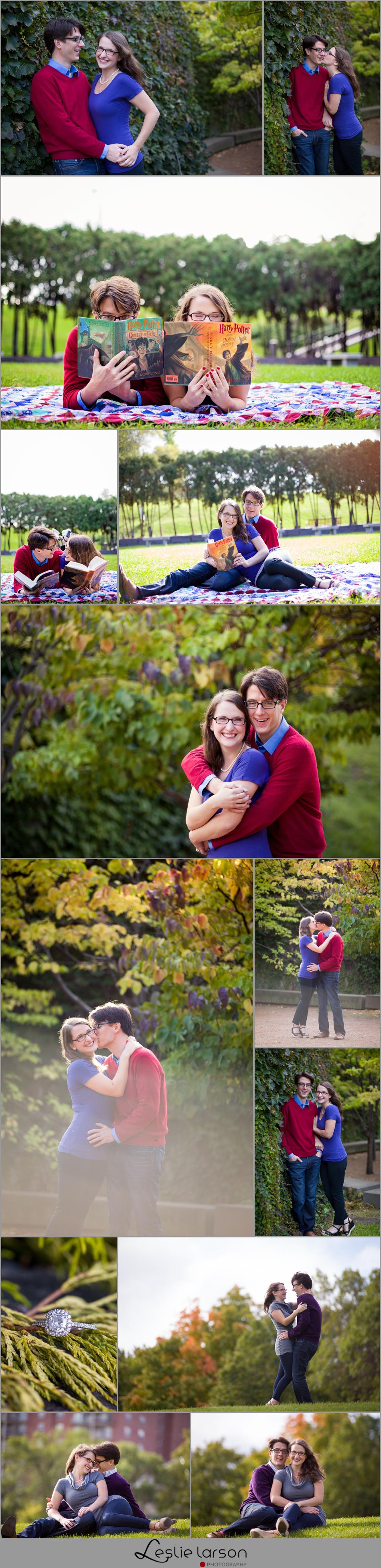 Amy & Chris Loring Park Sculpture Gardens engagement