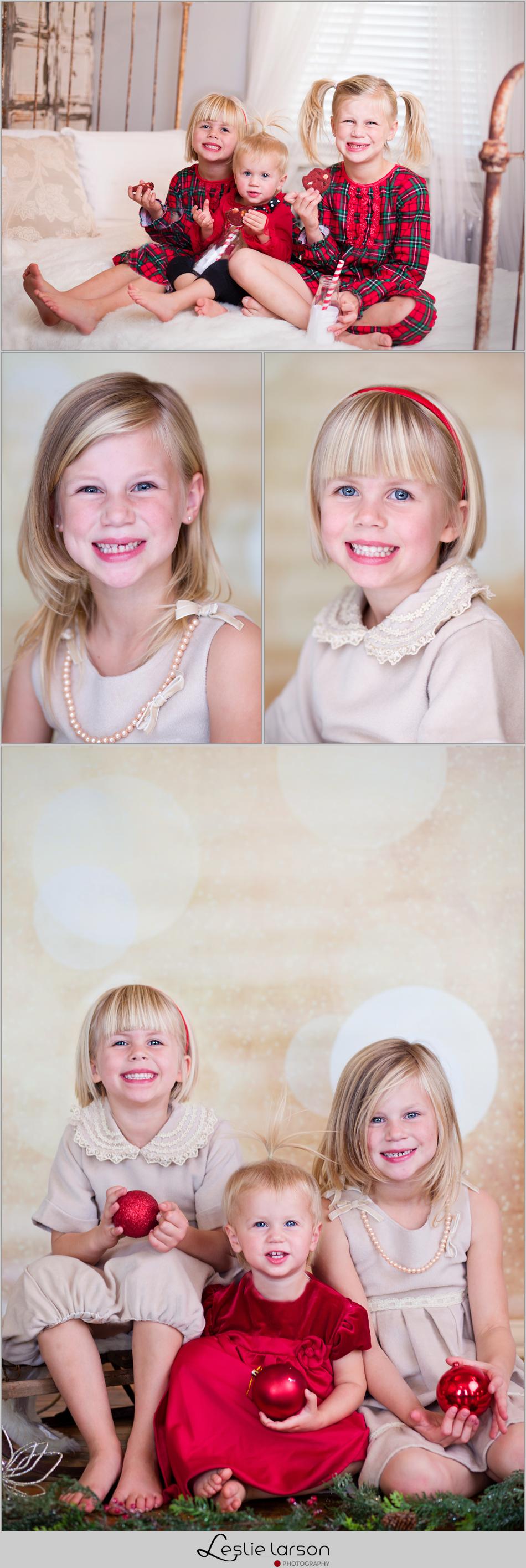 christmas kids mini session studio leslie larson photography